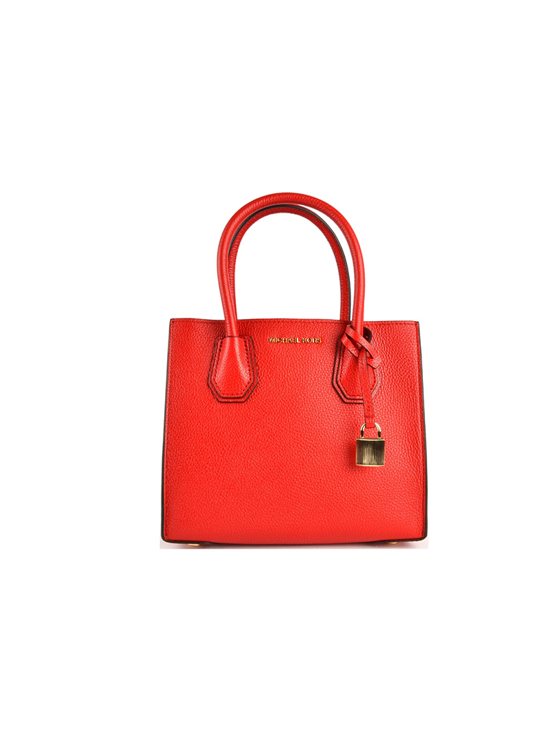 Michael Kors Mercer Bright Red Medium Messenger Bag walanii